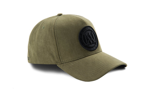 KIDS Manasse Suede Embroidered A-Frame Snap Back (Khaki)
