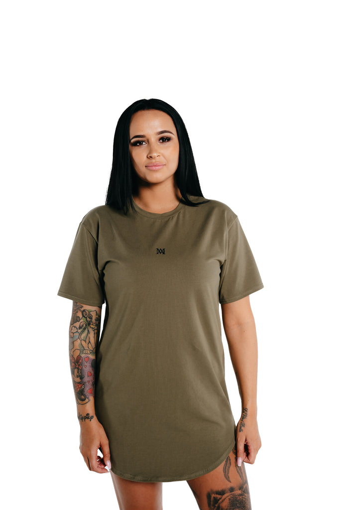 Manasse Women's NEW Basixx Tall Tee (Khaki)
