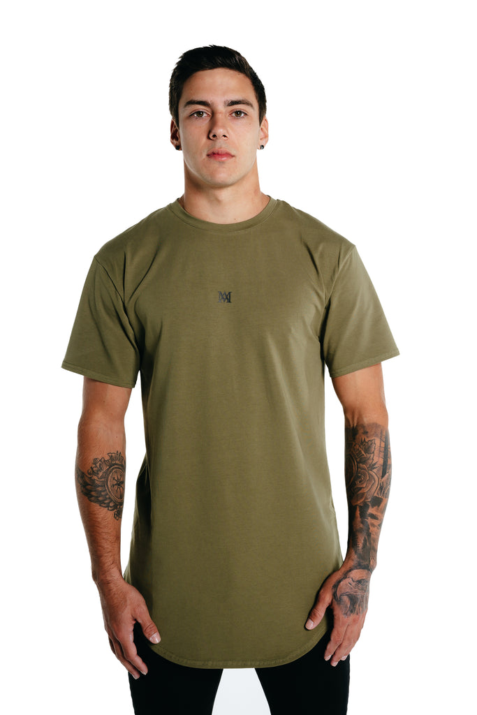 Manasse Men's NEW Basixx Tall Tee (Khaki)