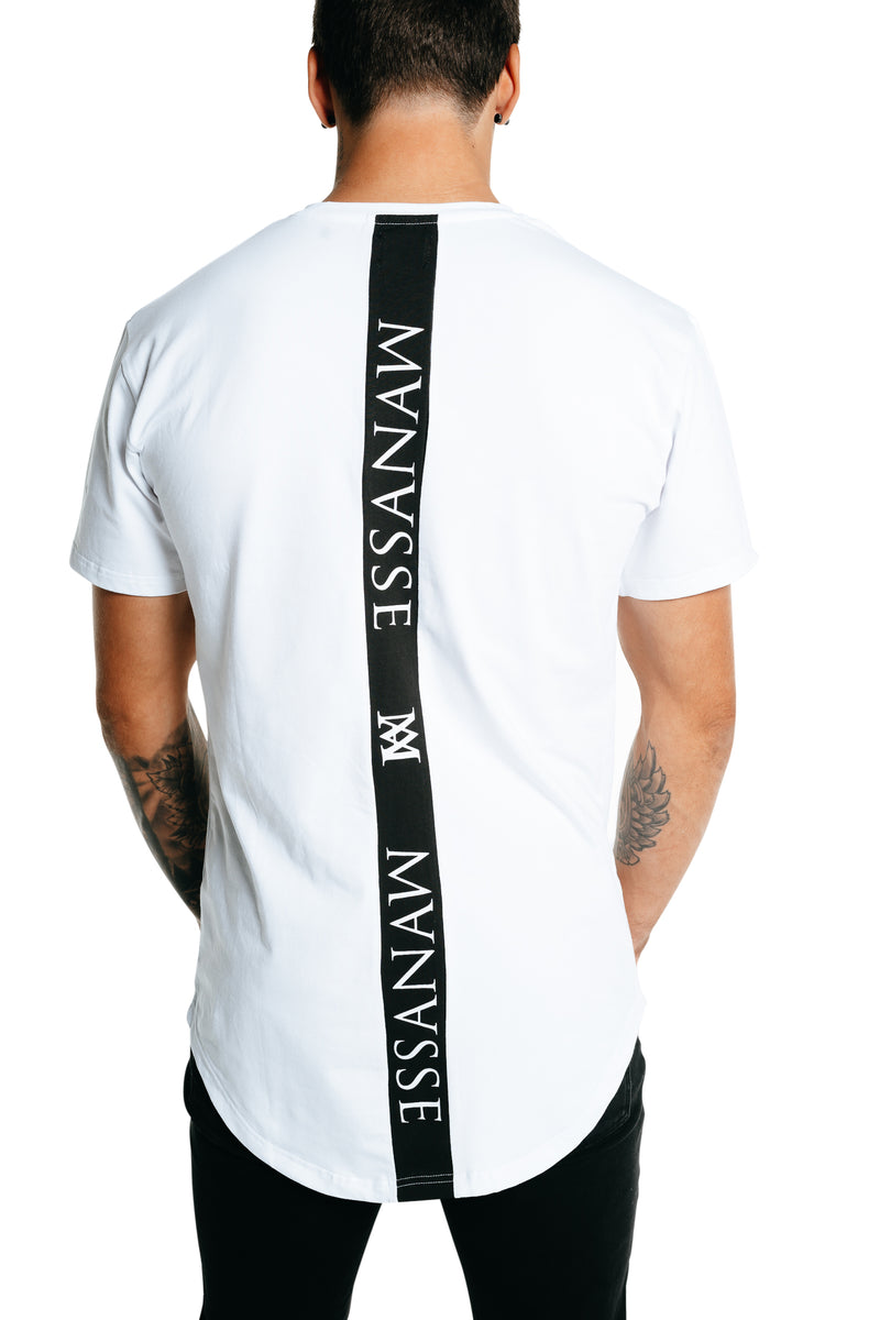 Manasse Men's Spinal Tall Tee (White)