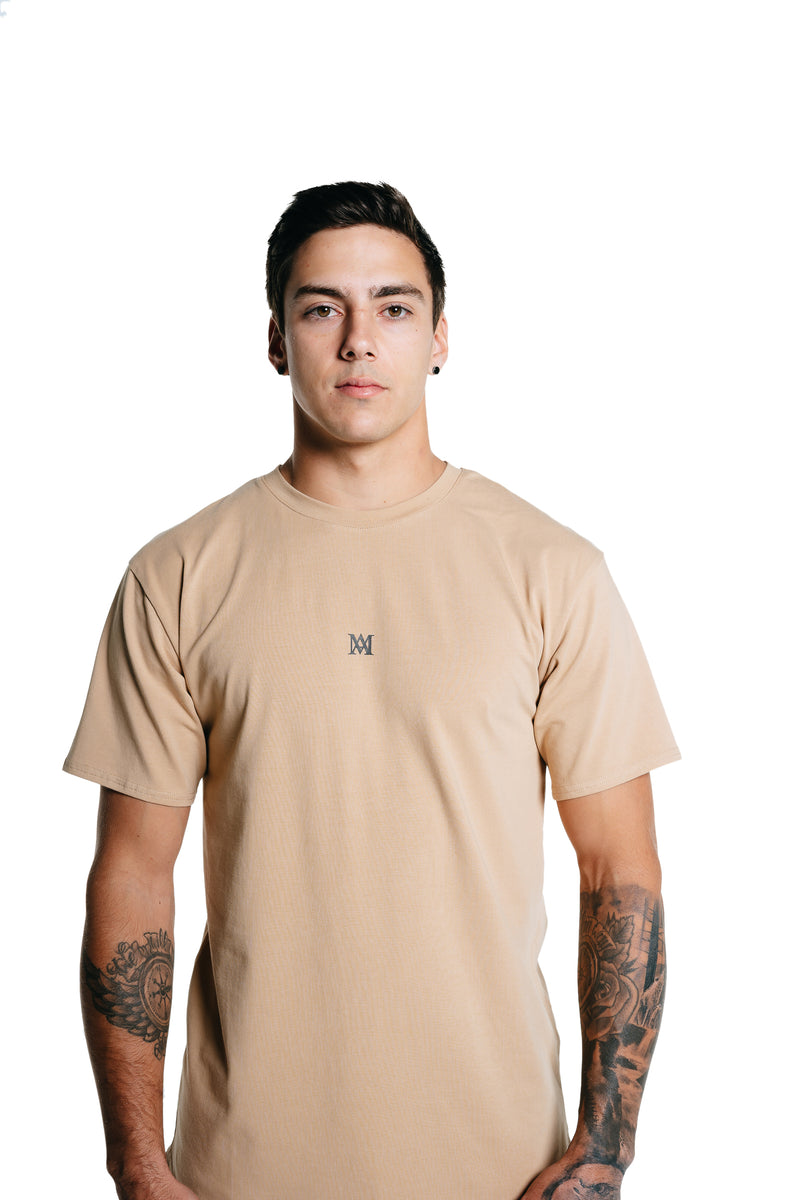 Manasse Men's NEW Basixx Tall Tee (Beige)