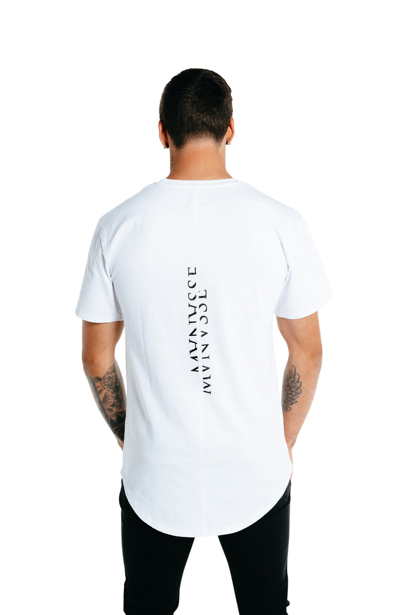Manasse Men's Fractured Tall Tee (White)
