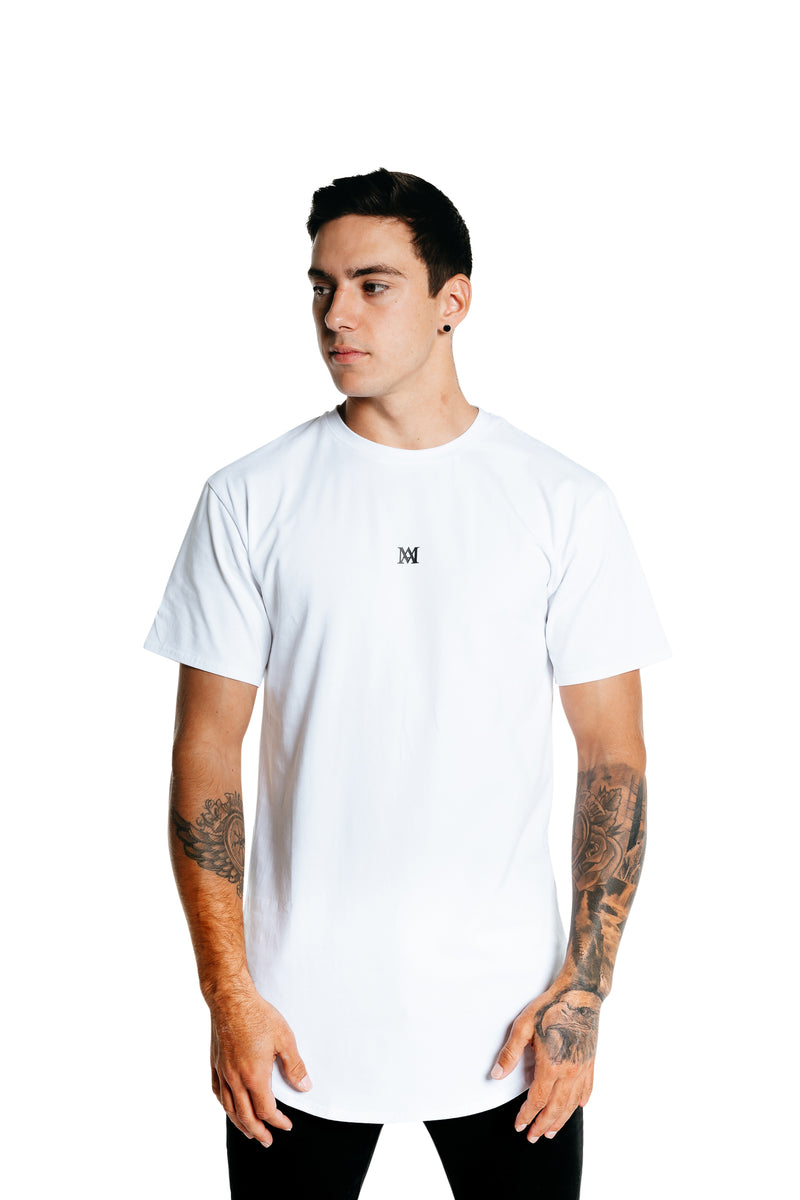 Manasse Men's NEW Basixx Tall Tee (White)