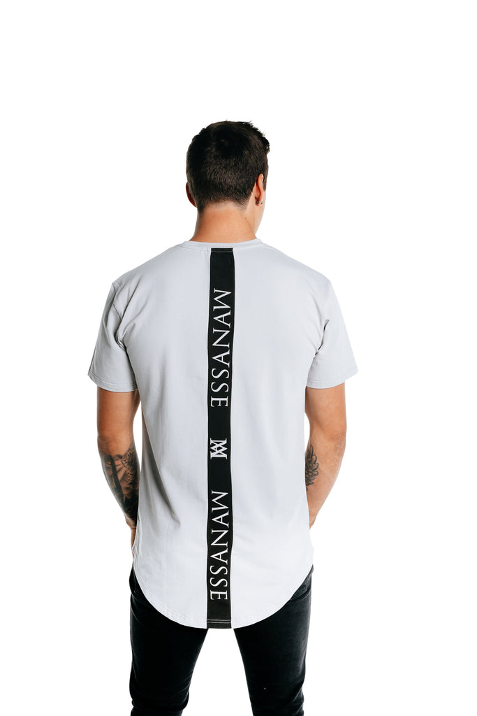 Manasse Men's Spinal Tall Tee (Grey)