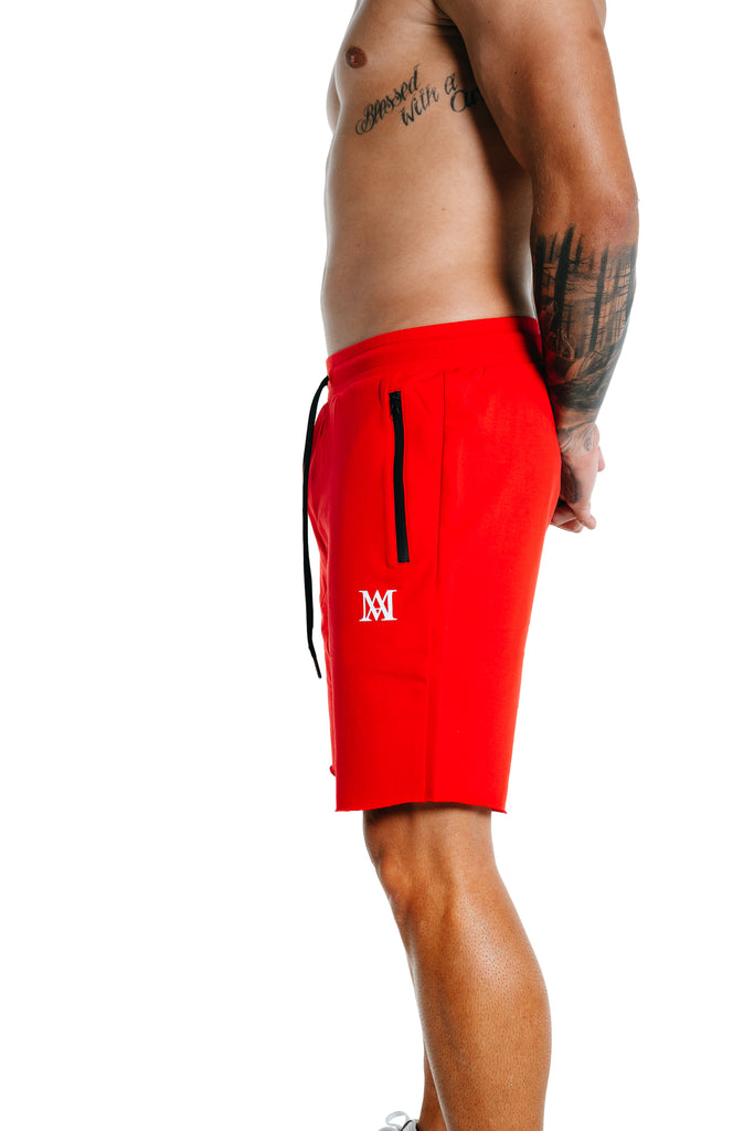 Manasse Mens Shorts (Red)