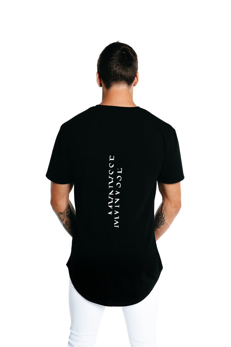 Manasse Men's Fractured Tall Tee (Black)