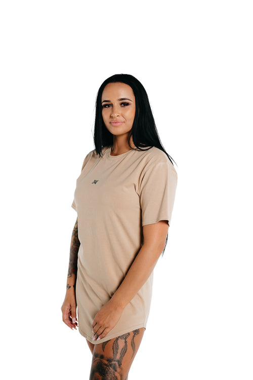 Manasse Women's NEW Basixx Tall Tee (Beige)