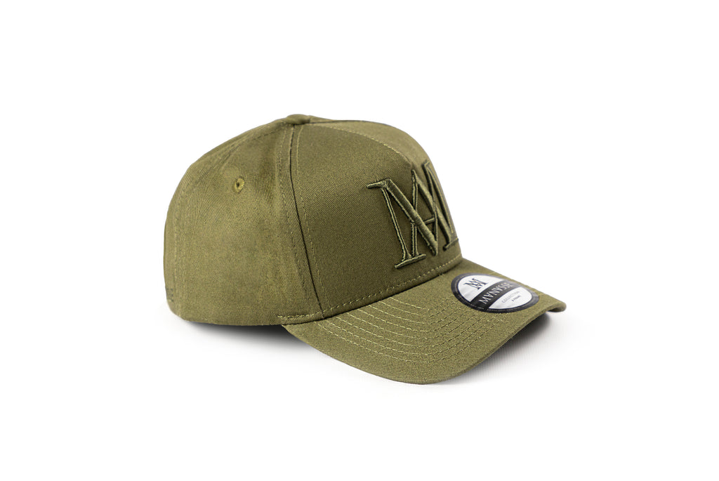 <strong>KIDS</strong> Manasse Embroidered A-Frame Snap Back (Khaki)