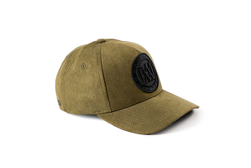 <strong>KIDS</strong> - Manasse Suede Embroidered A-Frame Snap Back (Khaki)