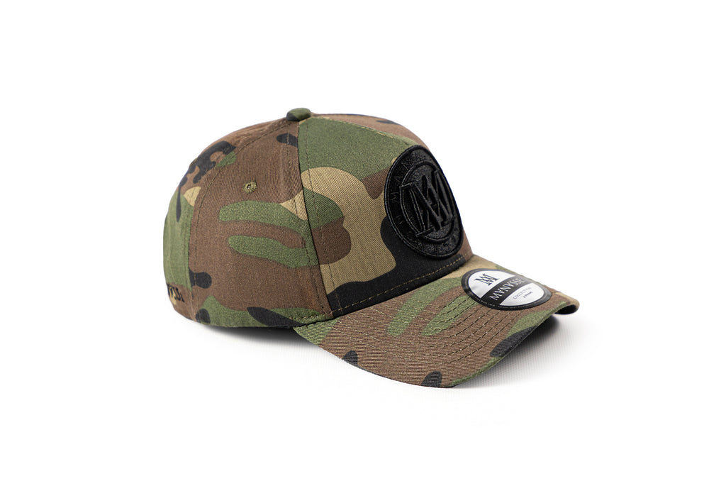 <strong>KIDS</strong> - Manasse Embroidered A-Frame Snap Back (Camo)