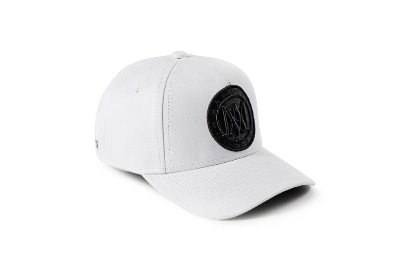 <strong>KIDS</strong> - Manasse Suede Embroidered A-Frame Snap Back (White)
