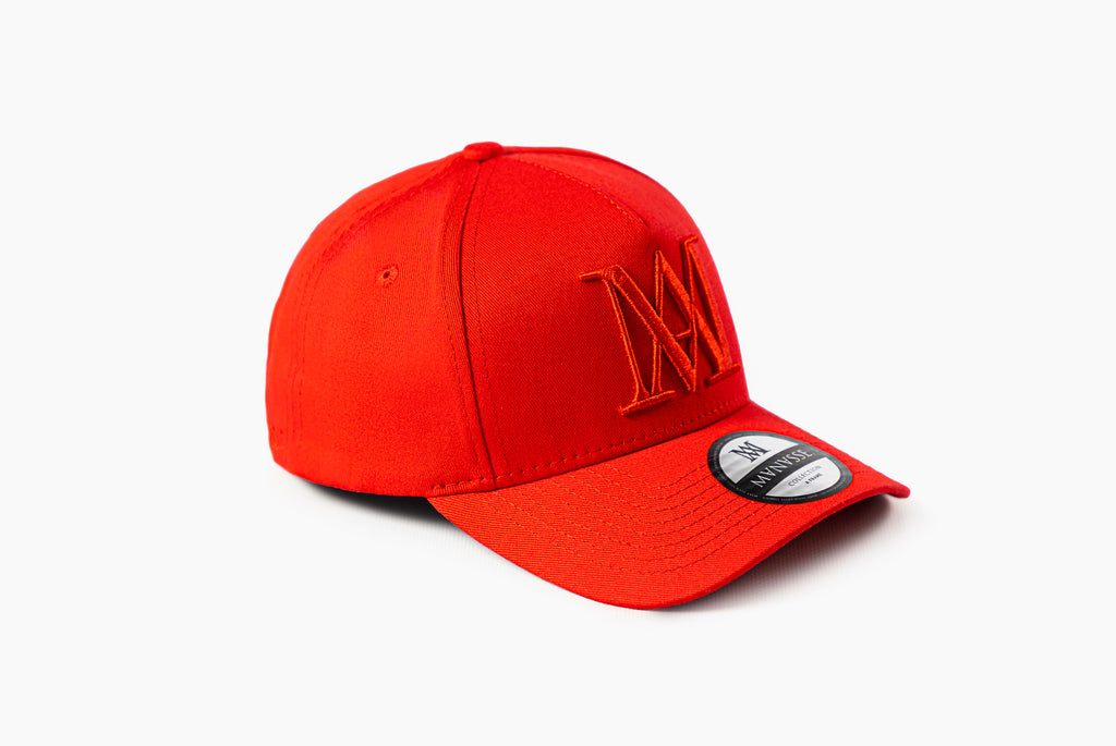 <strong>KIDS</strong> Manasse Embroidered A-Frame Snap Back (Red)