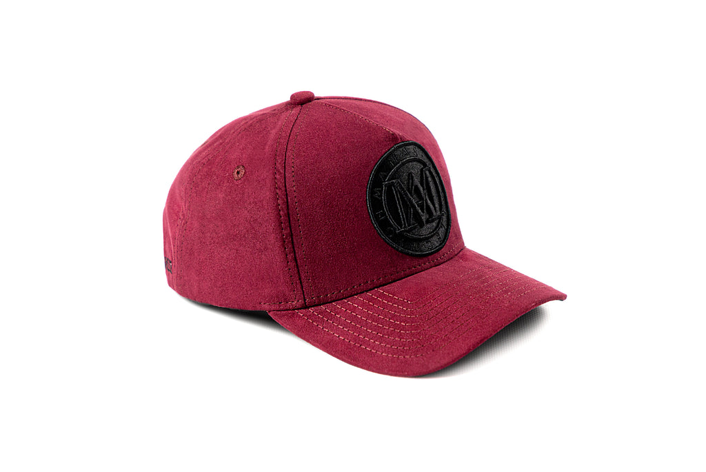 <strong>KIDS</strong> - Manasse Suede Embroidered A-Frame Snap Back (Burgundy)
