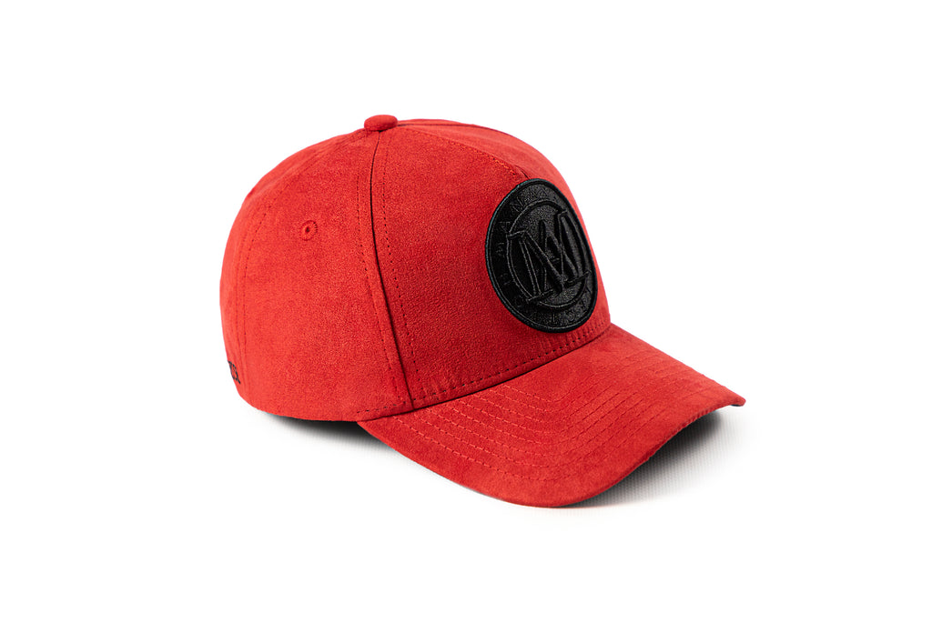 <strong>KIDS</strong> - Manasse Suede Embroidered A-Frame Snap Back (Red)