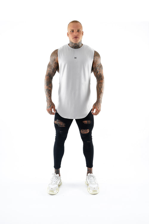 New Basix Plain Cut Off Tee (Grey)