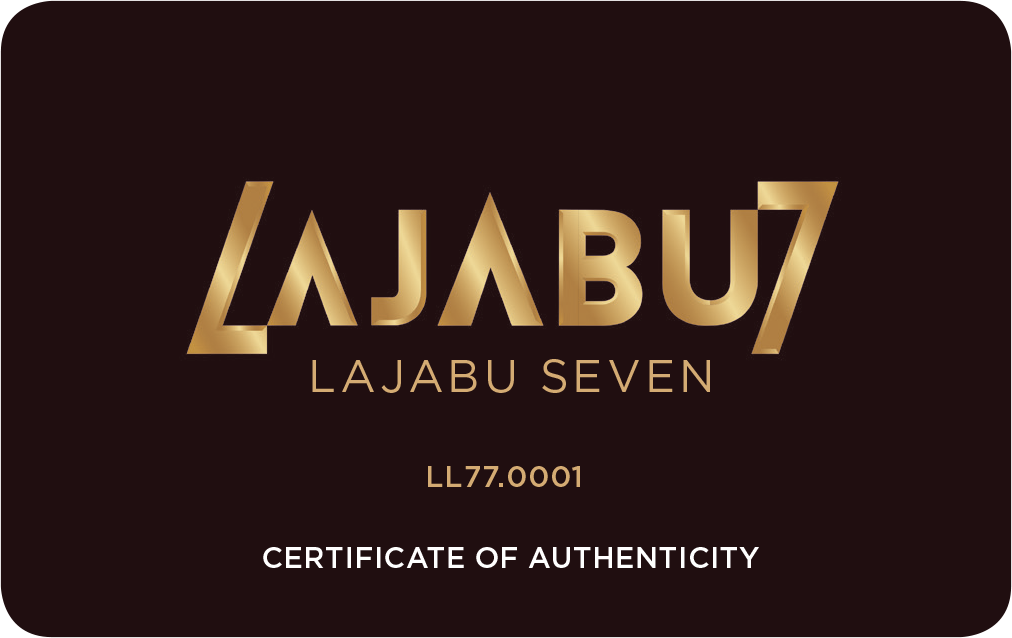Lajabu Seven certificate of authenticity luxury sneakers