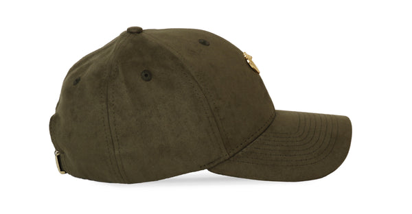 Gold Cobra Vegan Suede Cap Forest Green Ref. 87931