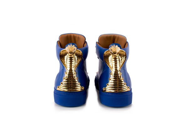 Blue Cobra Statue High-Top Sneaker Edition Diamond