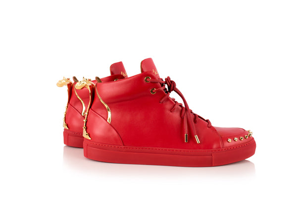 Red Cobra Statue High-Top Sneaker Edition Diamond