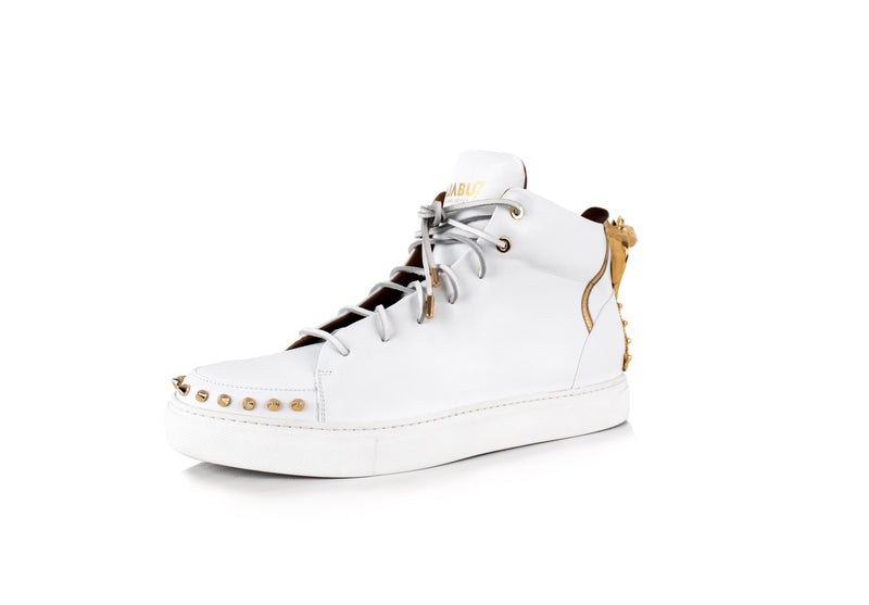 White Cobra Statue High-Top Sneaker Edition Diamond