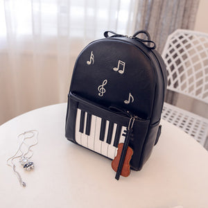 Piano Musical Casual Backpack
