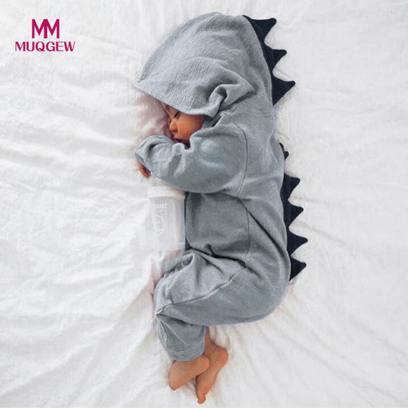 Newborn Infant Baby Dinosaur Hooded Romper