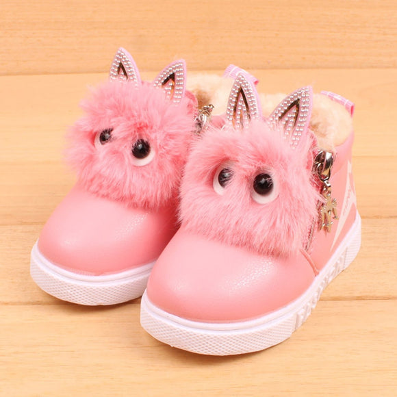 Baby PU leather Girls Sneaker Boots