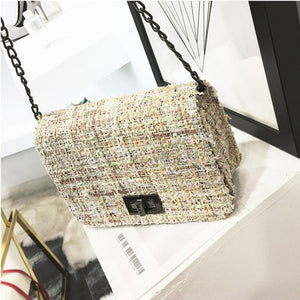 Luxury Women Handbags Purse Weaving Crossbody bag Women Bag Fashion Designer Brand Ladies Chain Shoulder Messenger Bags