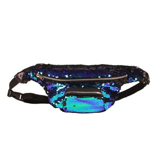 waist bag Women men Unisex Casual Double Color shiny Sequins Unisex Waist fanny pack belt bag men
