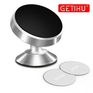 GETIHU Support Cellular Car Phone Holder Magnetic Mobile Phone Holder in Car For iPhone Smartphone Mini Magnet Stand 360 Mount
