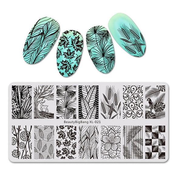 Nail Stamping Plate  For Nails 1PC