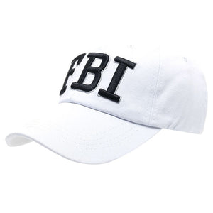 FBI Letters embroidery Denim Baseball Cap