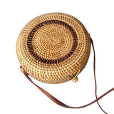 Handwoven Bali Round Retro Rattan Straw Beach Bag