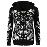 Harajuku Hoodies Sweatshirt Women Streetwear Skull Print Hoodie 2018 Autumn Women Fashion Clothes Kawaii Korean Moletom
