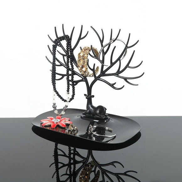 Jewelry Organizer Necklace Earring Deer Stand