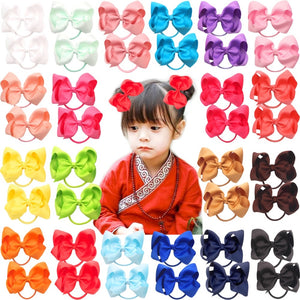 "40pcs 20 Pairs 4.5"" Boutique Hair Bows Tie Baby Girls"
