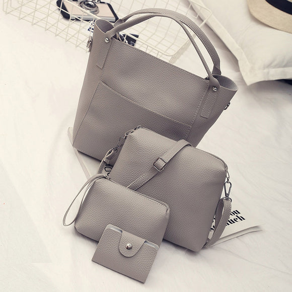 2019 Xiniu Women FourPCS Handbag Super Explosion Solid Shoulder Bags Four Pieces Tote composite Bag