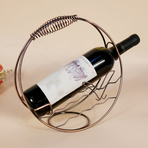Metal Wine Rack Stand Bottle Holder Storage Wedding Party Decor Ornament Gift Bottle Holder Kitchen Bar Display Handcraft