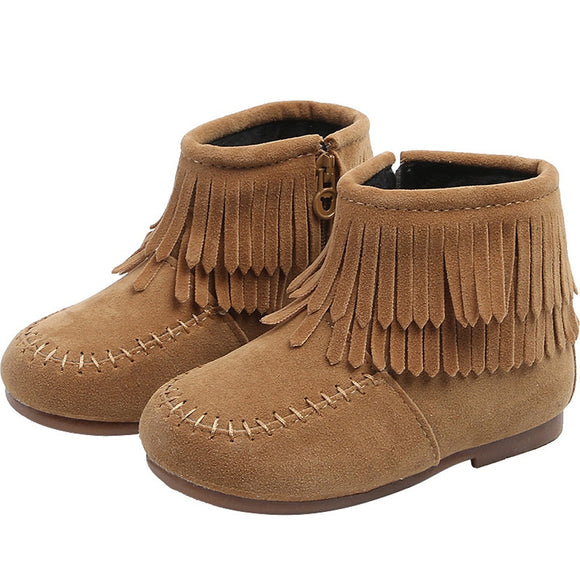 Baby Boots Winter - Fringe Tassel Martin Boots