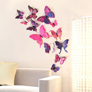 12Pcs/Pack Curtain Home Decor Butterfly Room Sticker