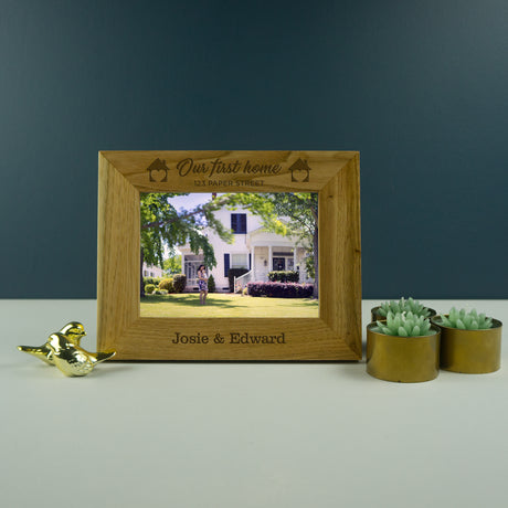 Personalised first home photo frame