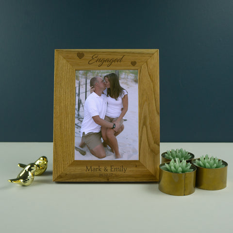 Engagement wooden photo frame