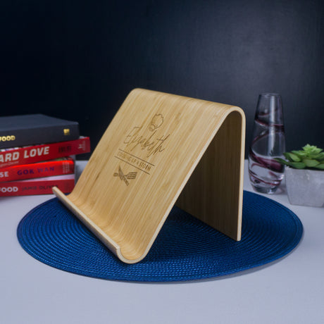 Bamboo recipe book stand