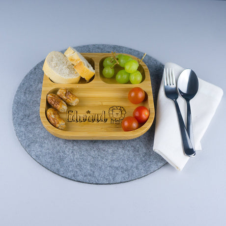 Child's bamboo food platter