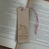 Personalised wooden bookmark for children Belvedere Collections