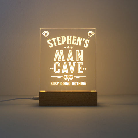 Custom made man cave LED light up name sign