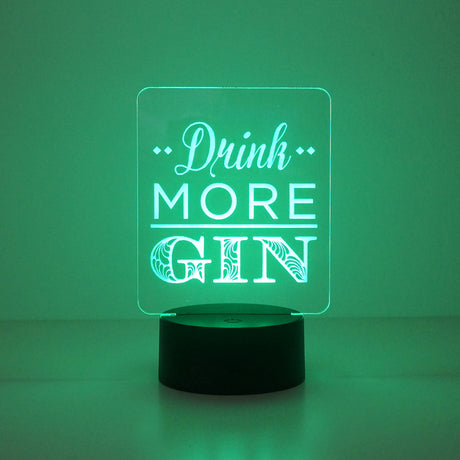 Funny drink more gin LED light