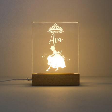 Custom princess LED name sign. Child bedroom night light