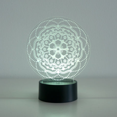 Mandala flower acrylic LED light sign