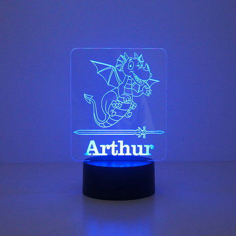 Personalised children's dragon LED sign night light